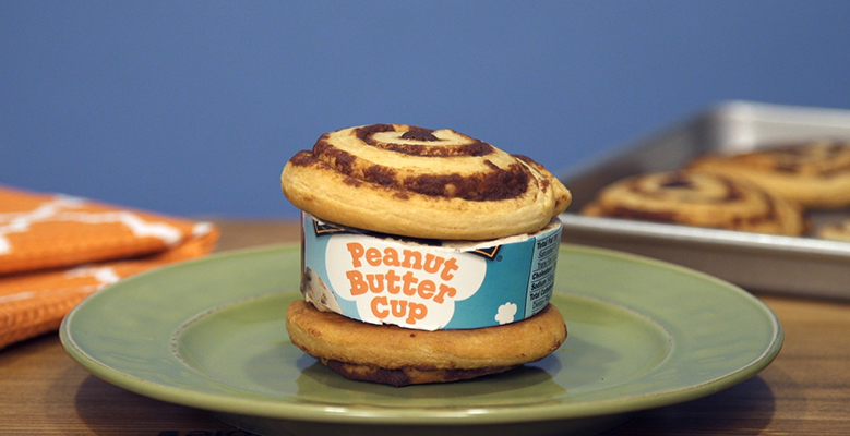 Ben & Jerry's Flavor Hack: Cinnamon Bun Ice Cream Sandwiches